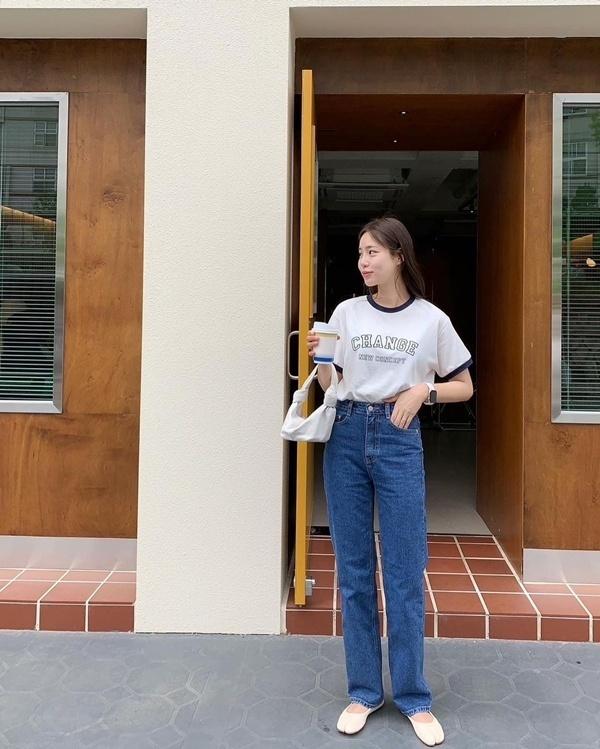 10 cách diện áo phông sành điệu như gái Hàn nàng chỉ cần copy theo là mặc đẹp nguyên mùa hè này
