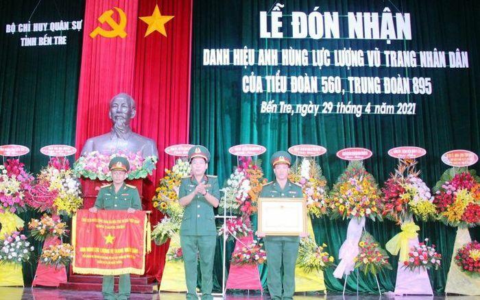 Tiểu đoàn 560 đón nhận danh hiệu Anh hùng lực lượng vũ trang nhân dân