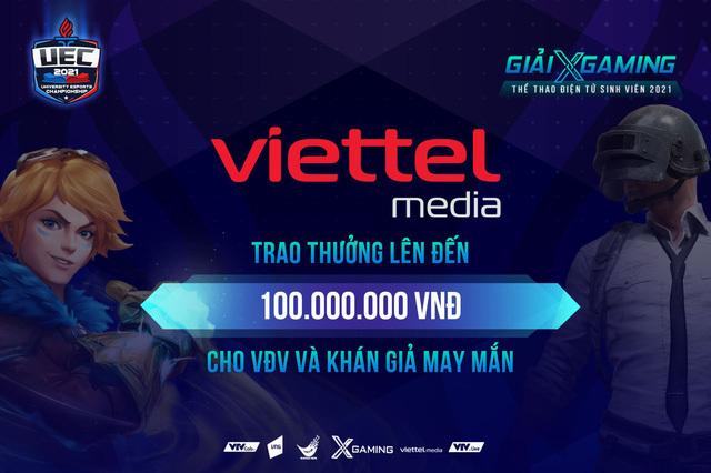 """Nóng! Viettel Media """"mạnh tay"""" trao thưởng 100 triệu đồng cho VĐV và khán giả may mắn trong đêm Chung kết Xgaming – UEC 2021"""