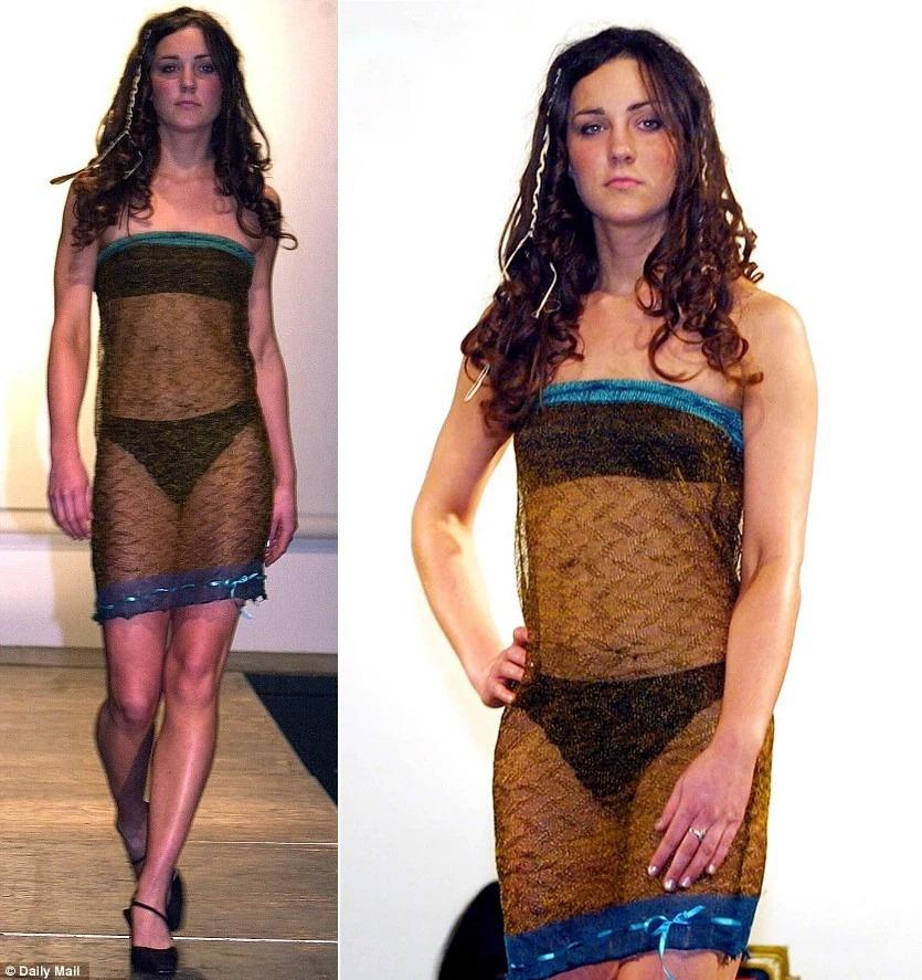 Lần đầu mặc váy xuyên thấu của Công nương Kate Middleton