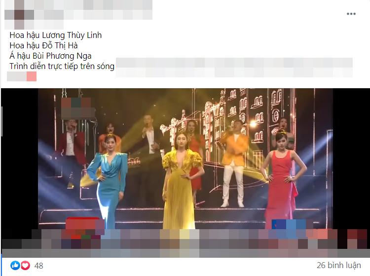 """Diễn catwalk cùng Lương Thùy Linh, Đỗ Thị Hà bị chê """"phèn"""", mặc trang phục như đồ ngủ"""