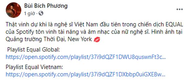 Bích Phương là nghệ sĩ Việt Nam đầu tiên có banner tại Quảng trường Thời đại, ngay vị trí của Taylor Swift, BLACKPINK, TWICE… trước đây