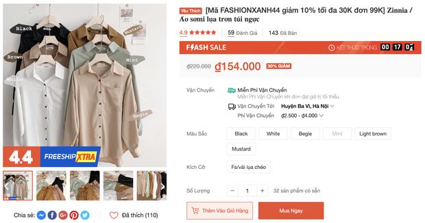 """Đồ trendy rẻ đẹp sale """"tụt nóc"""" ngày 4/4: Sơ mi oversize chỉ 150k, quần ống rộng xịn hết nấc chỉ từ 200k"""
