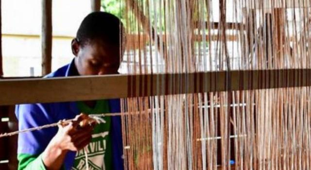 Tận dụng thân chuối bỏ đi thành sợi dệt vải, nông dân kiếm bộn tiền