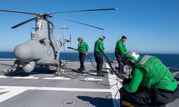 UAV 'phản chủ', đâm sườn chiến hạm Mỹ