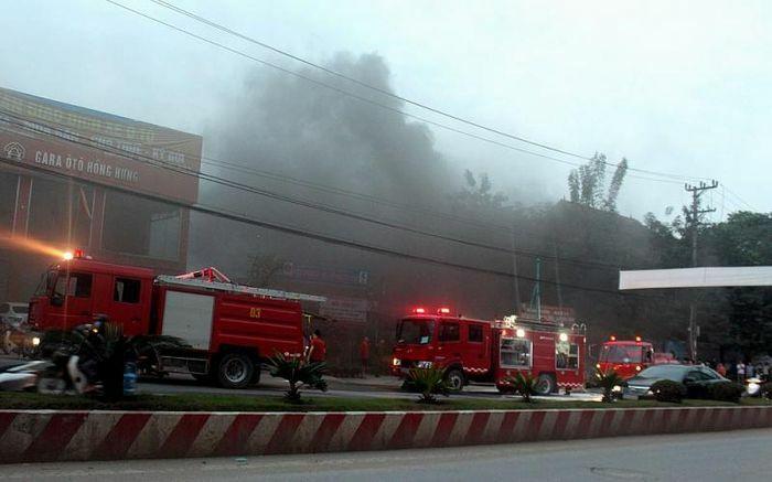 Thái Nguyên: Cháy tại Trạm bơm SP3 của Công ty thoát nước và phát triển hạ tầng đô thị