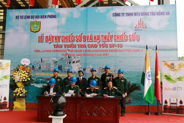 Hạ thủy 2 tàu tuần tra cao tốc thuộc gói tín dụng quốc phòng của Ấn Độ