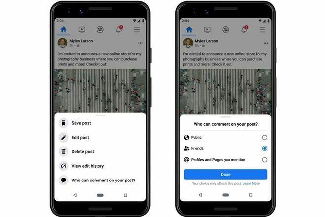 Facebook cho phép kiểm soát nhận xét bài đăng