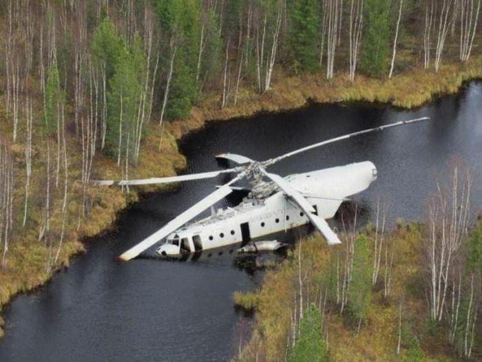 Tiếp nhầm nhiên liệu, trực thăng Mi-6 của Nga gặp họa phải nằm im suốt 40 năm