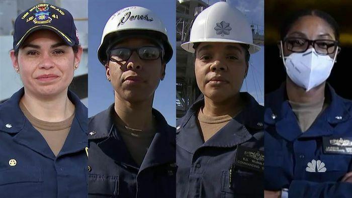 Lần đầu tiên hải quân Mỹ có 4 nữ chỉ huy tàu chiến da màu cùng lúc