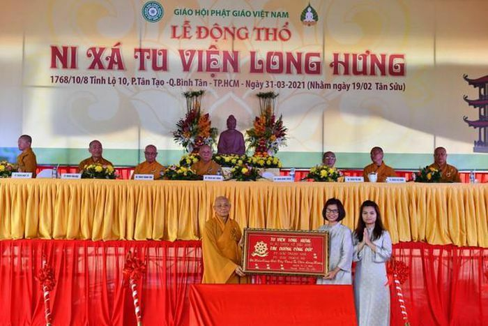 Lễ động thổ xây dựng Ni xá tu viện Long Hưng (quận Bình Tân)
