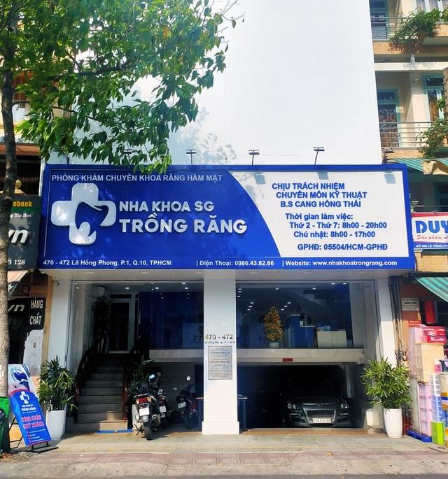 Nha khoa trồng răng SG – phòng khám răng hàm mặt được Sở Y tế cấp phép