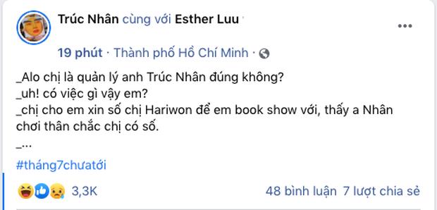 """Trúc Nhân thân với Hari Won quá mà làm gì, cuối cùng cũng chỉ là """"cầu nối book show"""" mà thôi!"""