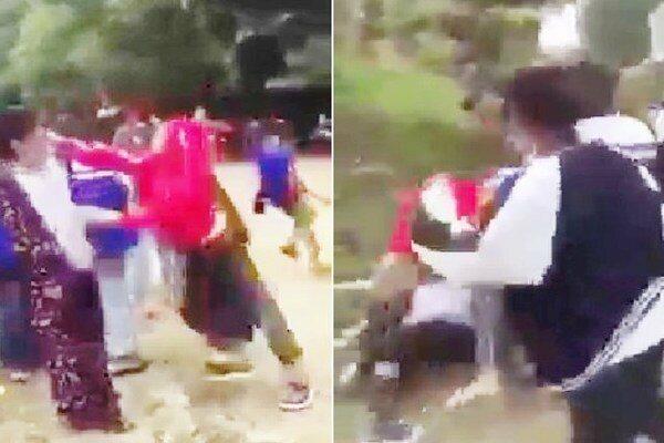 Nhóm học sinh cấp 3 dùng mũ bảo hiểm đánh đập dã man nữ sinh lớp 8 gây phẫn nộ