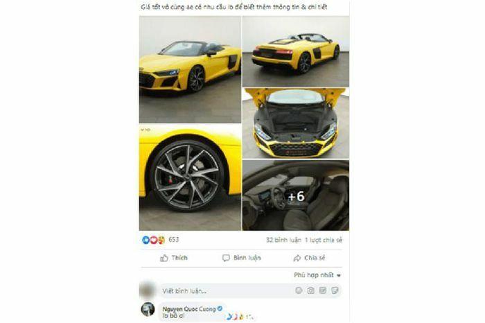 """Cường Đô la sắp """"tậu"""" siêu xe Audi R8 V10 Spyder 2021?"""