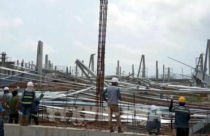 Quảng Ninh: Sập nhà xưởng rộng 15.000m2 tại dự án nhà máy dệt kim giai đoạn 1