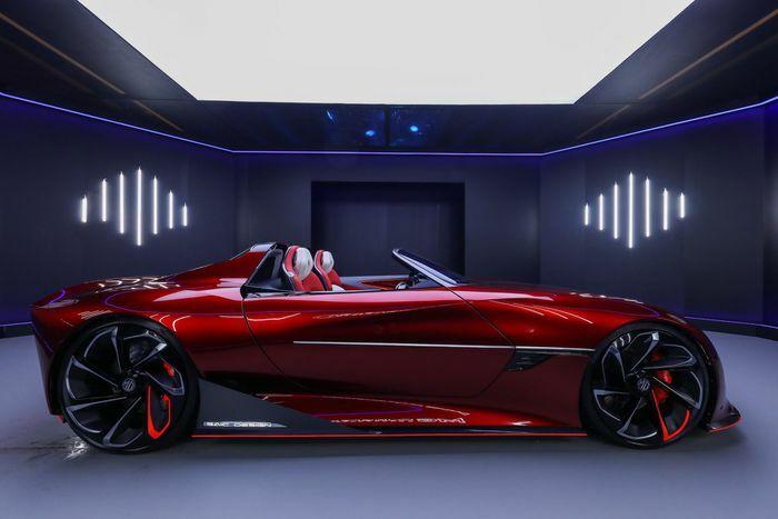 MG sắp trình làng mẫu concept chạy điện đầu tiên, thiết kế giống phi thuyền