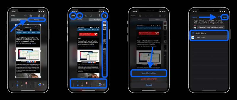 Cách chụp ảnh toàn trang web trên iPhone