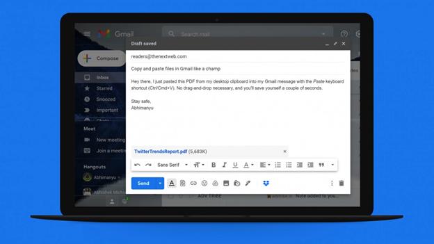 Mẹo đính kèm tệp vào Gmail bằng phím tắt
