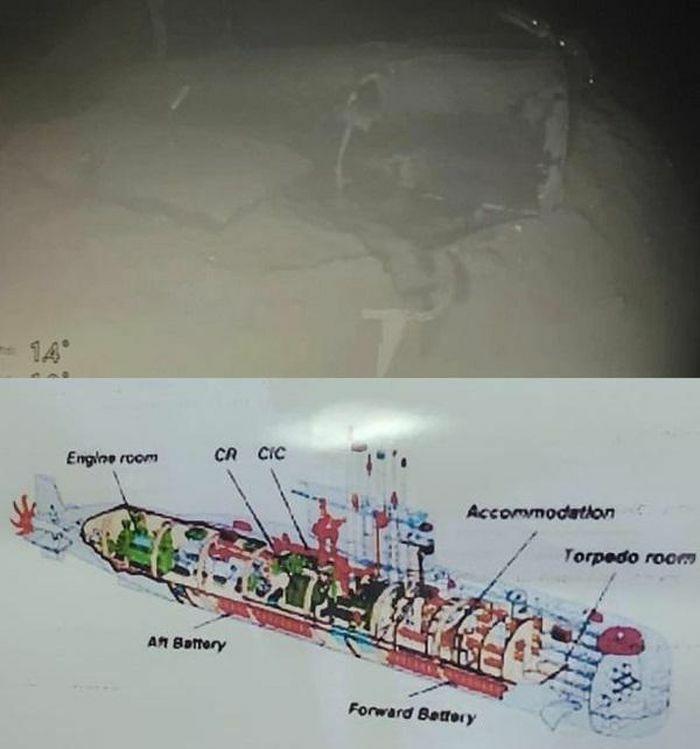 Hình ảnh mới nhất quá trình trục vớt tàu ngầm Indonesia, loại trừ nguyên nhân chìm do thủy thủ đoàn