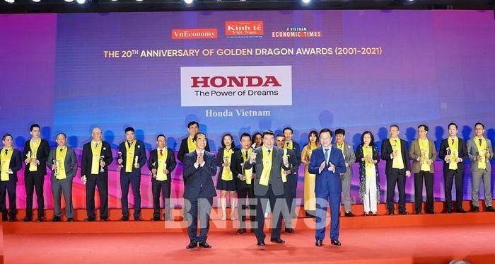 Honda Việt Nam lần thứ 16 nhận giải thưởng Rồng Vàng