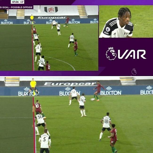VAR lại gây bão ở trận Fulham vs Wolves