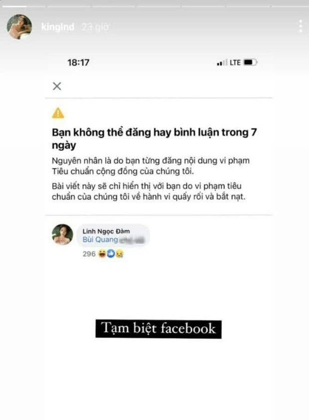 """Vạ miệng """"khẩu nghiệp"""" liên tiếp, Linh Ngọc Đàm lại bị Facebook khóa tài khoản"""