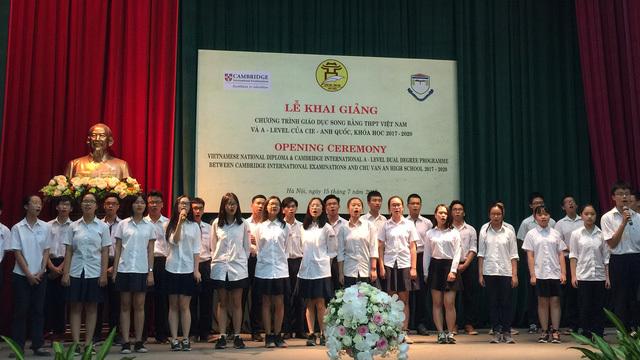 Hà Nội khai giảng chương trình song bằng tú tài đầu tiên