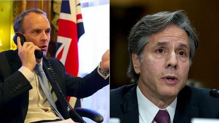Ngoại trưởng Mỹ và Anh công khai ủng hộ Ukraine