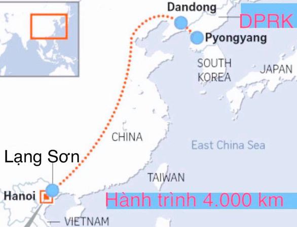 Cán bộ Đại sứ quán Việt Nam từ Triều Tiên về nước, quãng đường 4.000 km bằng đường bộ