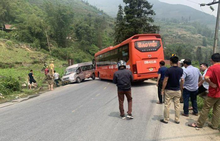 Tai nạn liên hoàn, quốc lộ 4D Lào Cai đi Sa Pa tắc nghẽn nghiêm trọng