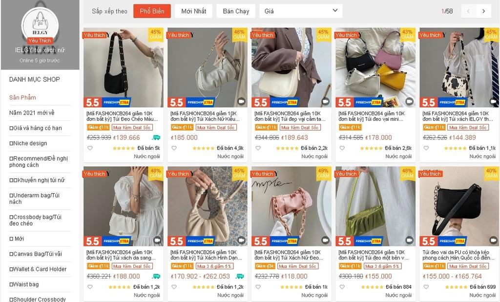 4 shop bán túi cắp nách chỉ từ 30k trên Shopee: Giá rẻ choáng váng, nhận cả nghìn review tốt