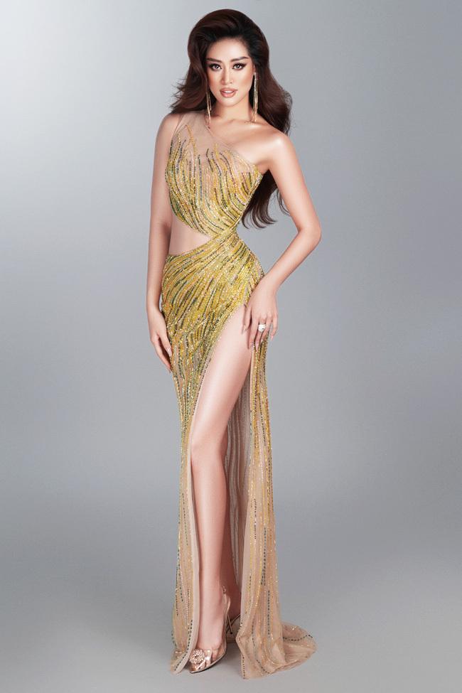 Khánh Vân hé lộ trang phục dạ hội nóng bỏng trước thềm bán kết Miss Universe 2020