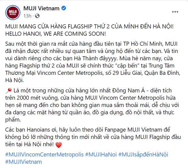 HOT: MUJI thông báo khai trương flagship store Hà Nội hè này, dân tình mua sắm thả ga nhé! - ảnh 1