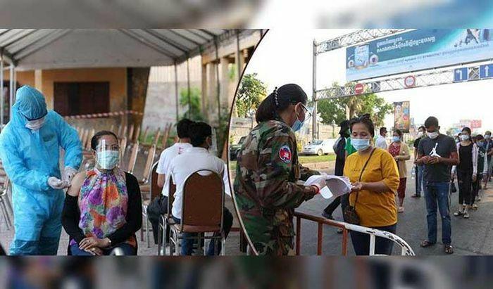 """Quân đội triển khai tiêm vaccine cho nửa triệu người Campuchia ở """"vùng đỏ"""""""
