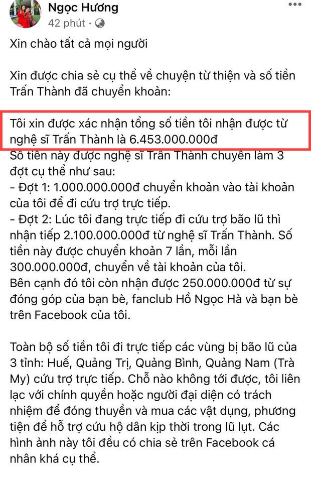 Mẹ Hà Hồ cuối cũng đã nói rõ về chuyện Trấn Thành chuyển 6,45 tỷ tiền cứu trợ miền Trung kèm hình ảnh, thông tin minh bạch