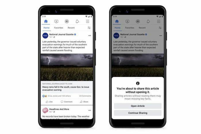Facebook thử nghiệm tính năng giúp hạn chế thông tin sai lệch