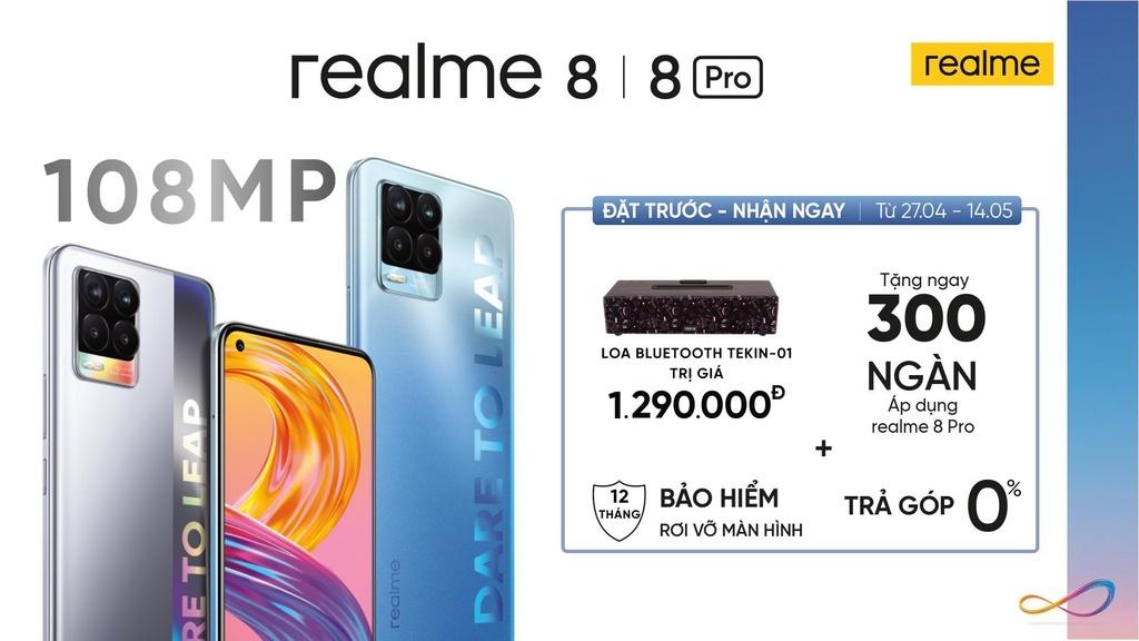 Realme 8 – selfie 'thần thái' với cụm camera thông minh