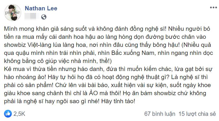 Nathan Lee khơi chuyện cũ khiến Thu Hoài bị chửi oan