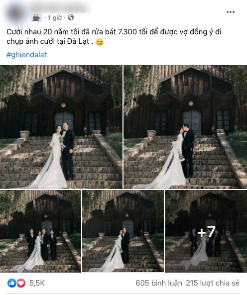 Chăm chỉ rửa bát 7.300 tối mới được vợ cho chụp ảnh Đà Lạt