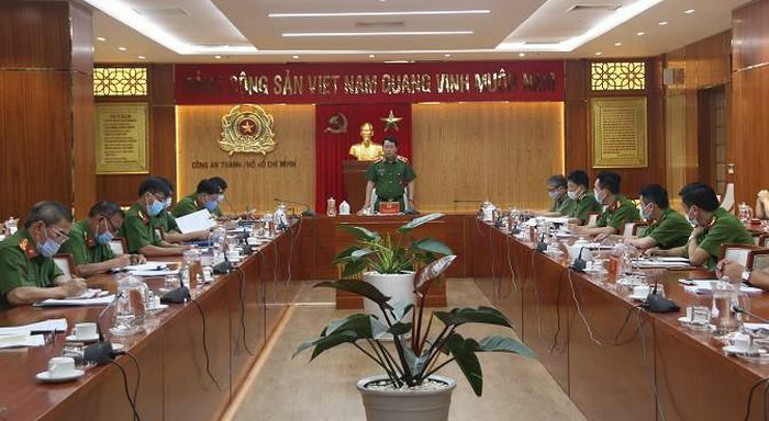 Thứ trưởng Bộ Công an Lê Quốc Hùng làm việc với Công an TPHCM về công tác PCCC&CNCH