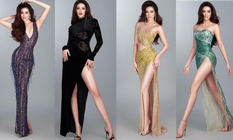 Mừng fanpage đạt 1 triệu follow, Khánh Vân tung loạt váy dạ hội cho bán kết Miss Universe