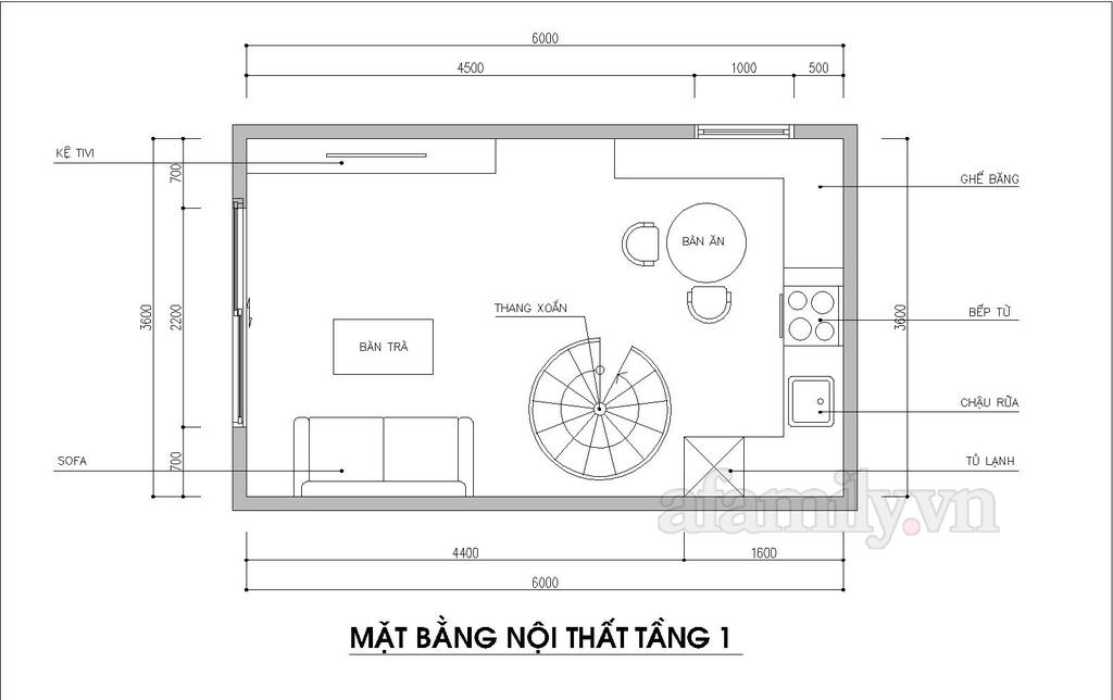 Kiến trúc sư tư vấn thiết kế nhà ống 20m² cho 4 người với chi phí 109 triệu đồng