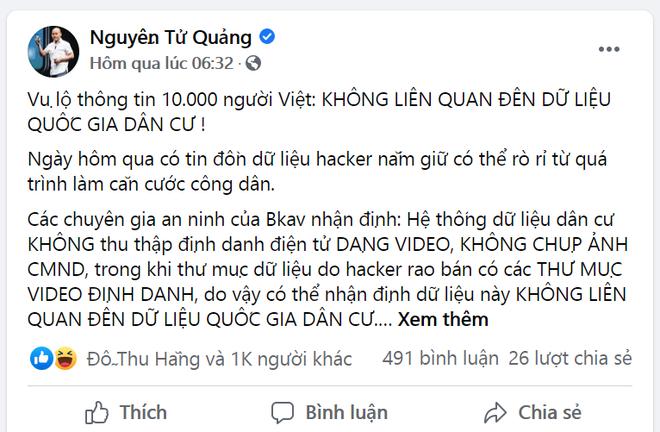 """CEO Nguyễn Tử Quảng lẳng lặng cho bài viết """"bay màu"""" sau nhận định Pi Network bán dữ liệu CMND?"""