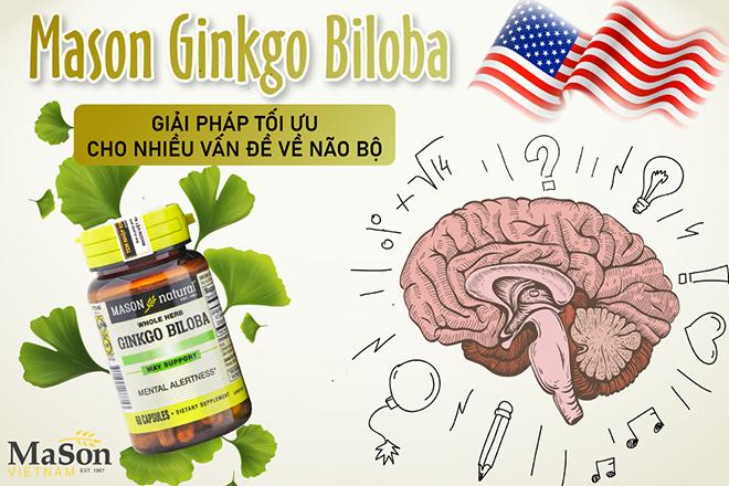 Mason Ginkgo Biloba – Giải pháp dành cho người thường xuyên đau đầu, chóng mặt, suy giảm trí nhớ