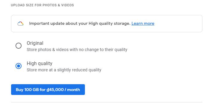 Làm gì khi Google Photos hết cung cấp lưu trữ không giới hạn?