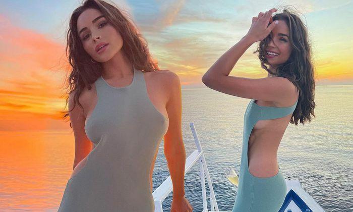 Hoa hậu Olivia Culpo cực quyến rũ với váy ôm sát phô đường cong tuyệt mỹ