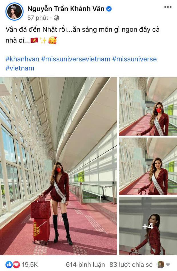 Dàn sao Vbiz cùng hướng về Khánh Vân, nàng hậu mới lên đường đã thay lia lịa 3 outfit, cập nhật từng phút hành trình đến Miss Universe 2020