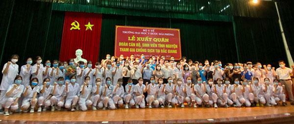 Đại học Y Dược Hải Phòng điều động nhân lực hỗ trợ Bắc Giang