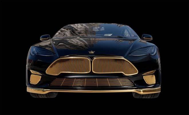 """Tesla Model S """"dát vàng 24K"""" đắt ngang ngửa siêu xe"""